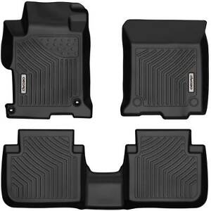 Oedro Fit For 2013 2017 Honda Accord Sedans Floor Mats Liners All Weather Guard