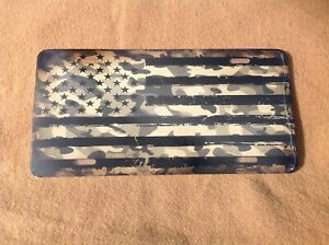 American Camouflage Flag Green Novelty License Plate Bar Wall Decor