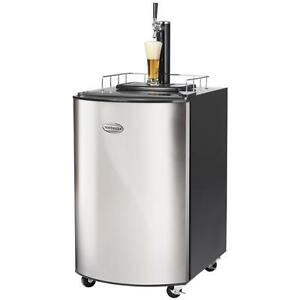 Stainless Steel Kegerator Draft Beer Dispenser Home Tap Cooler Fridge Wheels