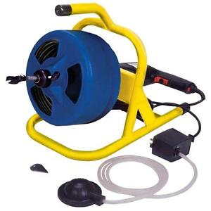 Compact Industrial Electric Plumbing Snake 5 16 In X 50 Ft Cable Drum Machine