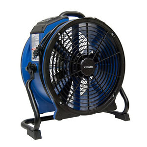 Xpower Blue Abs Housing 22 in Fan 10 speed Indoor outdoor Use Air Mover Fan