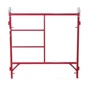 Red Standard Exterior 5 Ft X 5 Ft Scaffold Frame With 2000 Lb Load Capacity