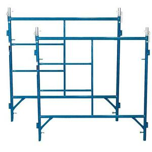 Blue Steel 2 piece 5 Ft X 5 Ft Scaffold Frames With 2000 Lb Load Capacity