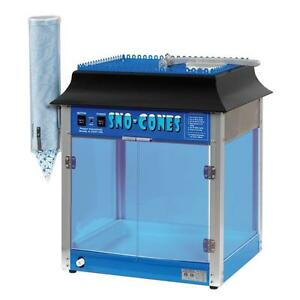 Commercial Snow Cone Maker Shaved Ice Machine Snowball Hawaiian Slushy Cup Hold