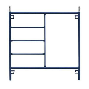 Weather Resistant Blue Metal Steel 5 Ft X 5 Ft Mason Scaffolding Frame