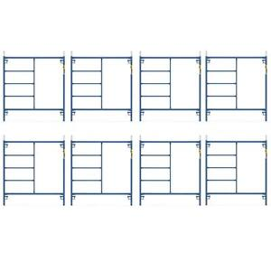 Durable Blue Coated Steel 8 pack 5 Ft X 5 Ft Mason Scaffolding Frame Kit