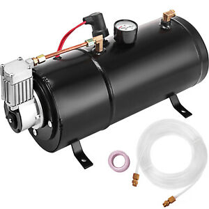 Air Compressor 120psi 12v Tank Pump For Air Horn 40 Psi Top Automatically