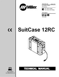 Miller Suitcase 12rc Service Technical Manual