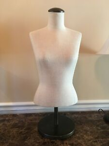 Fusion Specialties Mannequin Female Torso Upper Body Bust With Adjustable Base