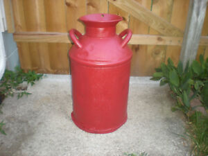 Antique midwestern 10 Gallon Metal Milk creamer Can Dairy great Decor