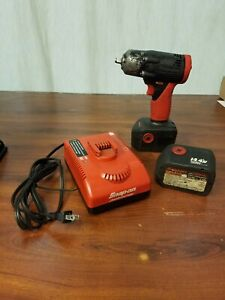 Snap on 14 4v 3 8 Impact Drill Ct4410 W 2 Batteries And Charger