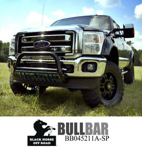 Black Horse 3 Black Bull Bar With Skid Plate For 17 21 Ford F25 35 45 550 Sd