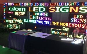Digital Led Sign Full Color Programmable Analyst 6 5 h X 38 w