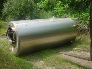 900 Gallon Sanitary Stainless Steel Tank Flat Bottom Closed Top
