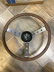 60s 70s Vw Beetle Ghia Bus Nos Vintage Formula Vee Wood Grained Steering Wheel