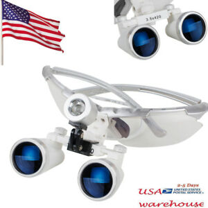 Us Stock Dental Surgical Medical Binocular Loupes 3 5x 420mm Optical Glass Loupe