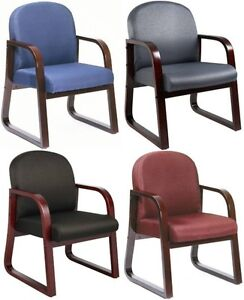 Black Blue Gray Burgundy Side Office Lobby Visitor Arm Chairs Task Guest Chair