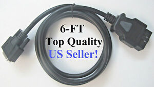 Cornwell Tech force Supreme Replacement Obd2 Obdii Main Cable Connector 6ft new