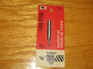 Lot 6 Vermont American Router Bit Straight 1 8 To 3 4 Made Usa 1 4 Shank
