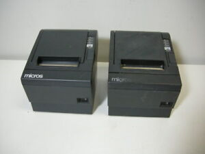 Lot 2 Epson Tm t88iii M129c Pos Thermal Printer Serial Interface W o Adapter