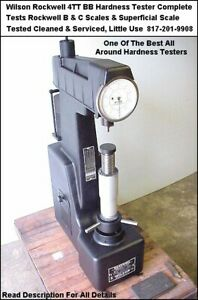 Wilson Rockwell Hardness Tester 4tt Bb Twin Rockwell B C Superficial Scale