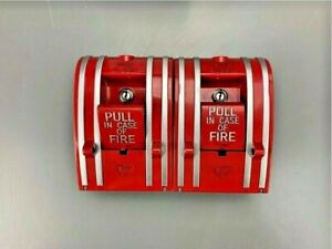 Lot Of 2 Est Edwards 270 gao Manual Pull Station Fire Alarm
