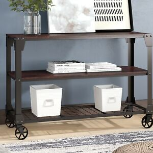 Hobart Truly Modern Console Table Solid manufactured Wood New