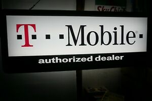 T mobile Authorized Dealer Double sided Lighted Store Sign Size 36 X 14 X 5 5