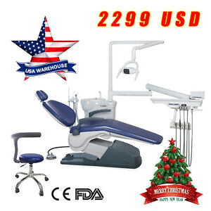 Usa Stock Dental Unit Chair Computer Controlled 110v 4hole Chair Ce Fda