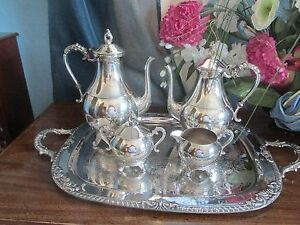 Vintage Silver Plate Coffee Tea Service In Originial Box S M P Product 205
