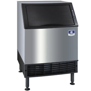 26 Air Cooled Undercounter Full Size Cube Ice Machine With 90 Lb Bin 198 Lb
