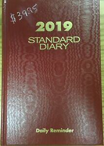 2019 Standard Diary Daily Reminder sd389 Red