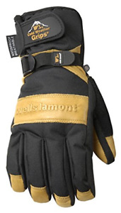 Men s Waterproof Winter Gloves With Leather Palm Extra Large Wells Lamont