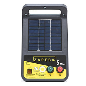 Zareba Esp5m z 5 mile Solar Low Impedance Electric Fence Charger