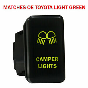 Push Switch 8b80ng 12volt For Toyota Oem Camper Lights Tacoma Led New Green