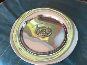 Sterling Silver 1966 Trophy Plate Srrc Retriever With Duck Perpetual Trophy