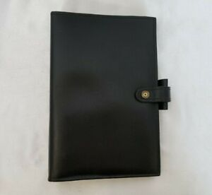 Vintage Filofax Personal Lincoln Smooth Black Leather 1 Rings Snap