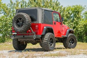 Rough Country Rear Classic Full Width Bumper W Tire Carrier For 87 06 Wrangler