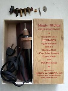 Vtg Ungar s Magic Stylus Professional Set Soldering Iron Ungar s Quin tip lets