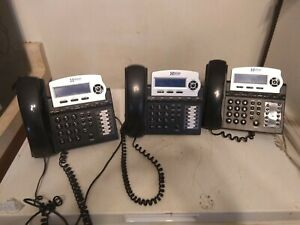Xblue Networks X16dte 6 Line Telephone Charcoal Lot Of 3 Office Phones
