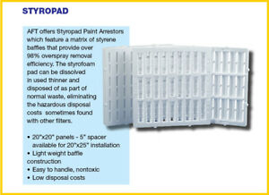 Paint Spray Booth Filter 20x20x2 Styropad 20 box Lasts Up To 20 Times Longer