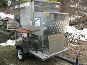 Mobile Hot Dog Cart Trailer Food Vending Enclosed Concession Stand