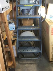 Used 10 Step Rolling Safety Ladder