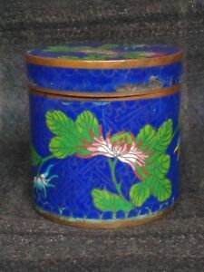 Antique Beautiful Chinese Cloisonne Can In 19th Century Qing Dynasty
