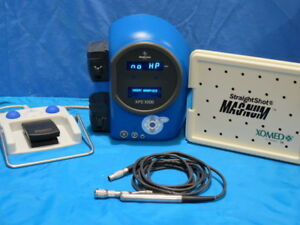 Xomed Xps 3000 With Straightshot Magnum Microdebrider Handpiece And Footswitch