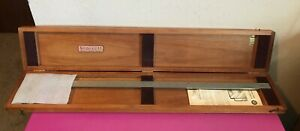 Starrett No 122 Inside Outside 24 Vernier Caliper 1 1000 Mahogany Case Usa