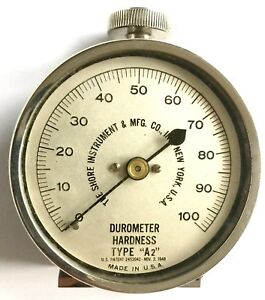 Vintage 1948 Shore Instrument Co Durometer Hardness Type A2 In Original Box