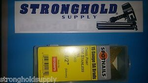 15g 2 1 2 Angle Finish Nails 15120aps Spotnail Stainless Steel 1000 Per Carton