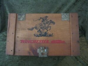 WINCHESTER SMALL ARMS AMMUNITION  WOOD CRATE AMMO BOX