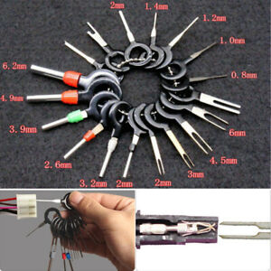 18pcs Car Wire Terminal Removal Tool Wiring Connector Pin Extractor Puller Tools